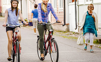 Biking through Naantali, Finland.