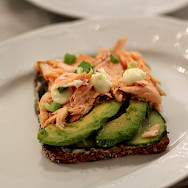 Salmon avocado sandwich in Helsinki, Finland. Flickr:Emilia Eriksson