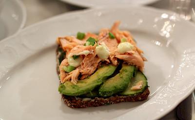 Salmon avocado sandwich in Helsinki, Finland. Flickr:Emilia Eriksson