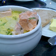 Salmon soup in Helsinki, Finland. Flickr:Pete