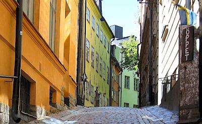 Cobblestone streets in Gamla Stan, Old Town, Stockholm, Sweden. Flickr:Olof Senestam