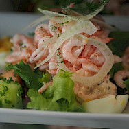Shrimp Salad in Stockholm, Sweden. Flickr:Maman Voyage