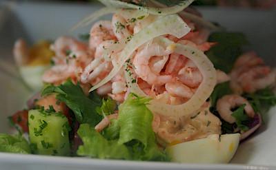 Shrimp Salad in Stockholm, Sweden. Flickr:Maman Voyage