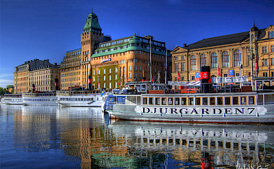 Stockholm sits among 14 islands as well as Lake Mälaren and the Baltic Sea, Sweden. Flickr:Michael Caven