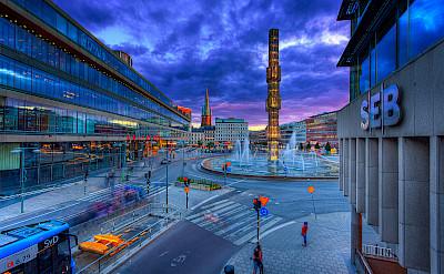 City life in Stockholm, Sweden. Flickr:Tobias Lindman
