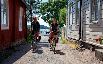 Biking through Tammisaari, Finland.