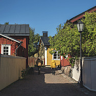 Wooden houses in Tammisaari, Finland.