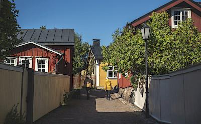 Wooden houses in Tammisaari, Finland.