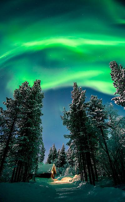 Northern Lights in Lapland, Finland. Flickr:Giuseppe Milo