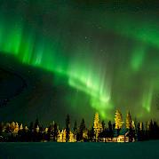 Norte e Lapônia Ocidental da Finlândia Foto