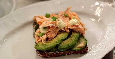 Salmon and avocado sandwiches in Finland. Flickr:Emilia Eriksson