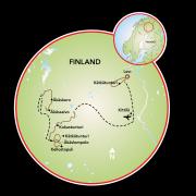 Norte e Lapônia Ocidental da Finlândia Mapa