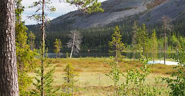 Kasankijarvi Lake and Kellostapuli Fell in Pallas-Yllästunturi National Park, Western Lapland, Finland. Photo via TO