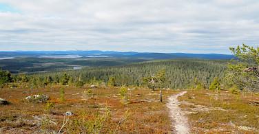 View from Akaskero Fell in Pallas-Yllästunturi National Park, Western Lapland, Finland. Photo via TO
