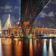 Bhumibol Bridge in Bangkok, Thailand. Flickr:Mike Behnken