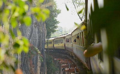Train in Kanchanaburi, Thailand. Flickr:Nanase Kaneko