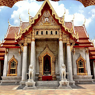 Amazing marble temple in Bangkok, Thailand. Flickr:Karl Baron