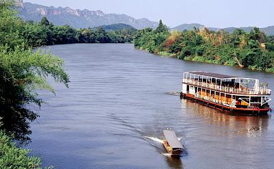 Biking and boating the Thailand Bike Tour.
