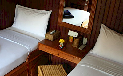 Twin bed cabins | Thailand Bike & Boat