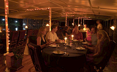 Outdoor dining | MV River Kwai - Thailand Bike & Boat