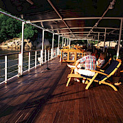 Lounge on deck -Thailand Bike & Boat