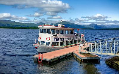 A ferry crosses Loch Lomond in Scotland. Flickr:Jean Balczesak