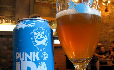 Punk IPA is a locally brewed Scottish beer. Flickr:Bernt Rostrad