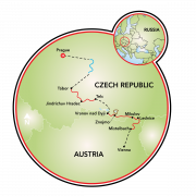 Family friendly Prague to Vienna Map