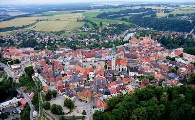 Tábor, a small South Bohemian town along the river Lužnice, Czech Republic. Creative Commons:Rudolf.