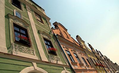 Gorgeous gables in Telc, Moravia, Czech Republic. Flickr:Donald Judge