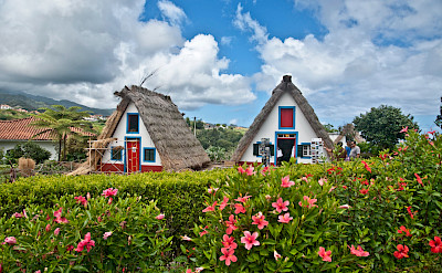 Traditional thatched houses (palheiros) on Madeira Island, Portugal. Flickr:José Antonio Cartelle