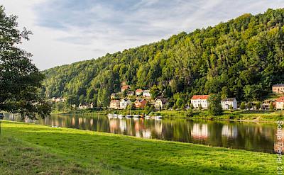 Bad Schandau along the Elbe River in Germany. Flickr:yashima