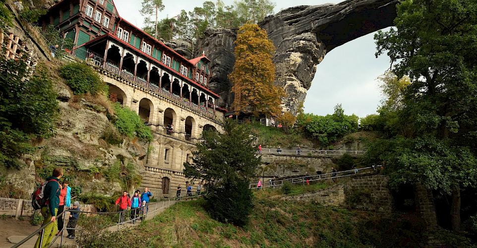 Pravčice Gate, considered the symbol of the Bohemian Switzerland National Park. Flickr:lukebehal