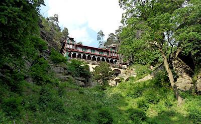 Pravčická brána or Prebischtor is Bohemian Switzerland National Park's greatest symbol. Flickr:Ingolf