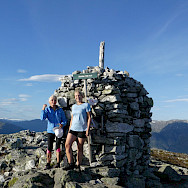 Hiking to the top of Molden, Norway. Photo via TO