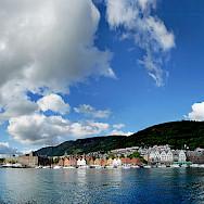 View of Bryggen in Bergen, Norway. Creative Commons:Pssmidi