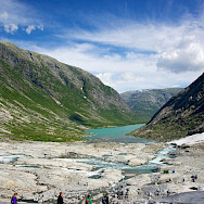 Glacier hiking at Jostedalsbreen, Norway. Flickr:Karen Blaha