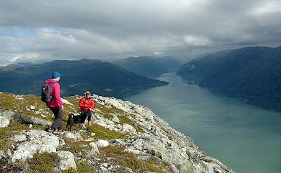 Enjoying the view at Molden, Norway. Flickr:Sognogfjordane