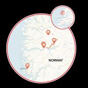 Norway Hike & Bike Map