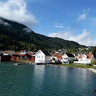 Solvorn from the ferry in Norway. Photo via TO