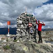 Caminhada e bicicleta na Noruega Foto