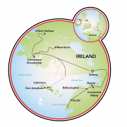 Burren, Aran Islands & Connemara Map