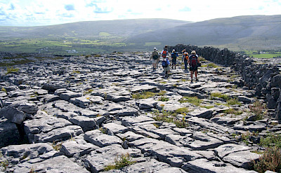 Walking through the Burren region of Ireland. Photo via TO