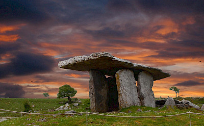 Sunset at the Burren Dolmen, Ireland. Flickr:Adrian Brady