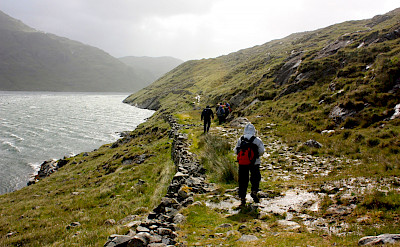 Hiking Killary Fjord, one of only three in Ireland. Photo via TO