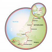 Bruges to Amsterdam - 9 day Map