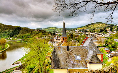 Biking through Saarburg, Germany. Flickr:Wolfgang Staudt