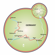 Bremen to Wolfsburg Map
