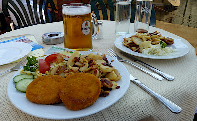 Fishcakes & Bratkartoffeln in Germany. Flickr:Dave Collier