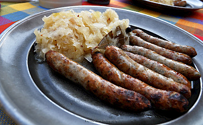 Sausages and sauerkraut are Deutsche favorites. Flickr:Eviyanilubis